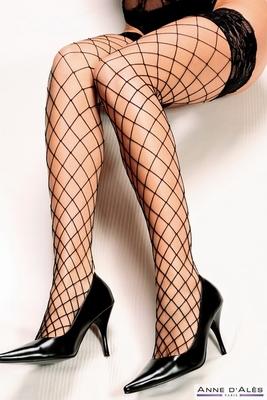 Franse holdup panty by Anne D'Ales, XL net, zwart