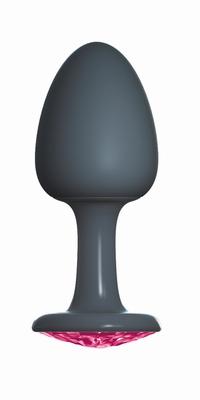 Geisha buttplug met Robijn by Dorcel, Extra Large, zwart