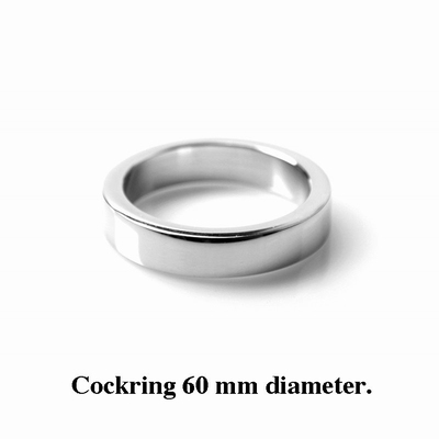Cockring / Penisring 12 mm hoog, 4 mm dik, 60 mm diameter