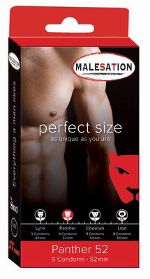 Condooms Malesation Perfect size Panther, 9 stuks, 52 mm