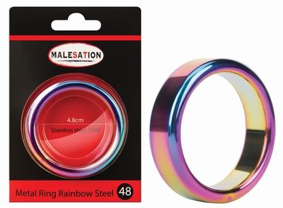 Cockring rainbow edelstaal 16 mm hoog 48 mm doorsnede