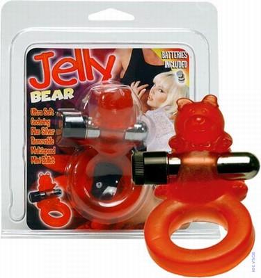 Jelly Bear Cockring met batterijen
