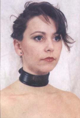 Halsband, smal model, zwart, basic