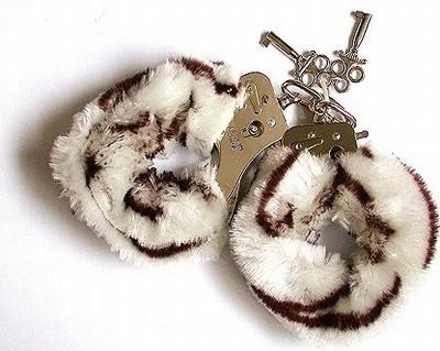 Fluffy Bont Handboeien, Zebraprint