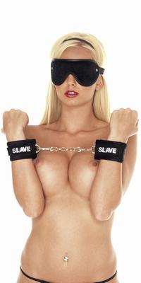 Soft bondage set met klittenband 3-delig Slave, zwart