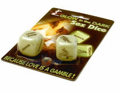 Glow in the Dark Love Dice Erotische Dobbelstenen