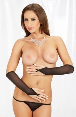 Handschoenen lang, zwart