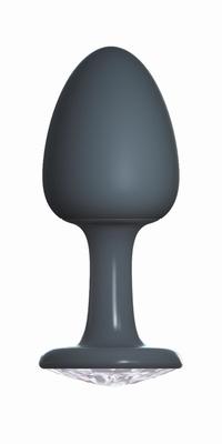 Geisha buttplug met Diamant by Dorcel, Medium, zwart