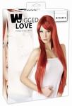 Pruik model Miranda, Rood, 80 cm