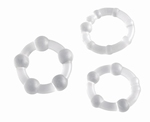 Cockrings set - Pro Rings, transparant