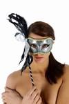 Venetiaans gezichtsmasker Venezia, Zilver