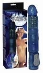 Full Moon, blauwe vibrator met parels